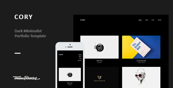 Cory - Dark Minimalist Portfolio WordPress Theme