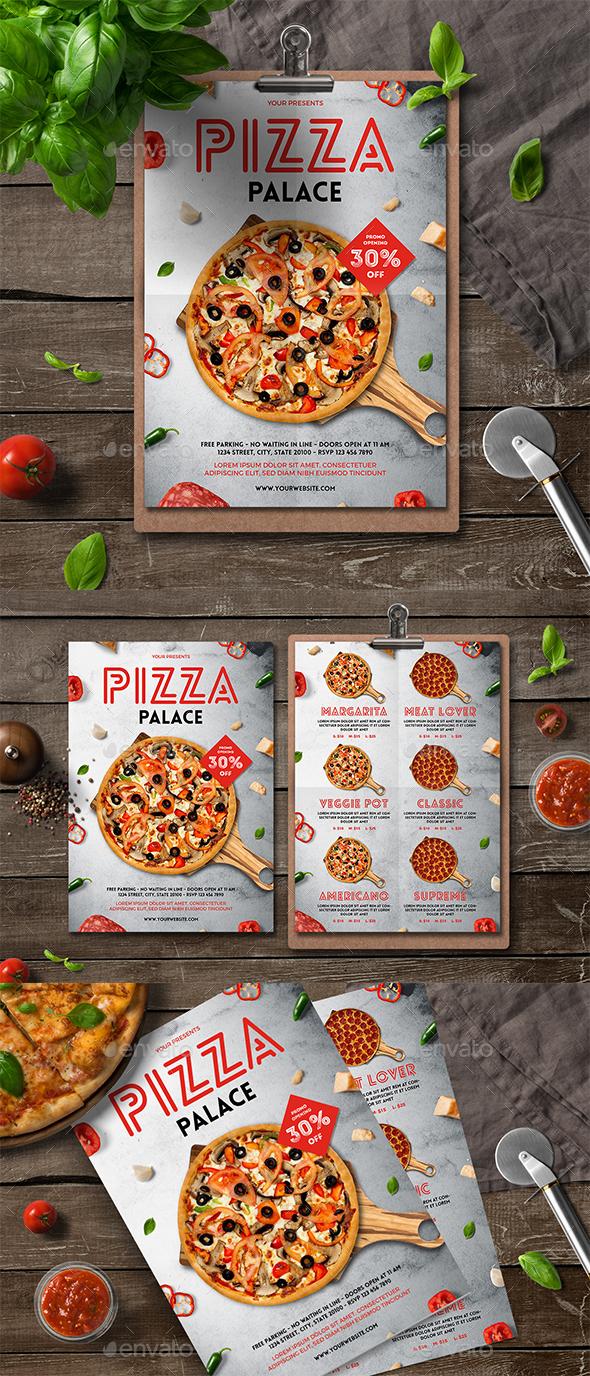 Pizza Flyer Menu - Food Menus Print Templates