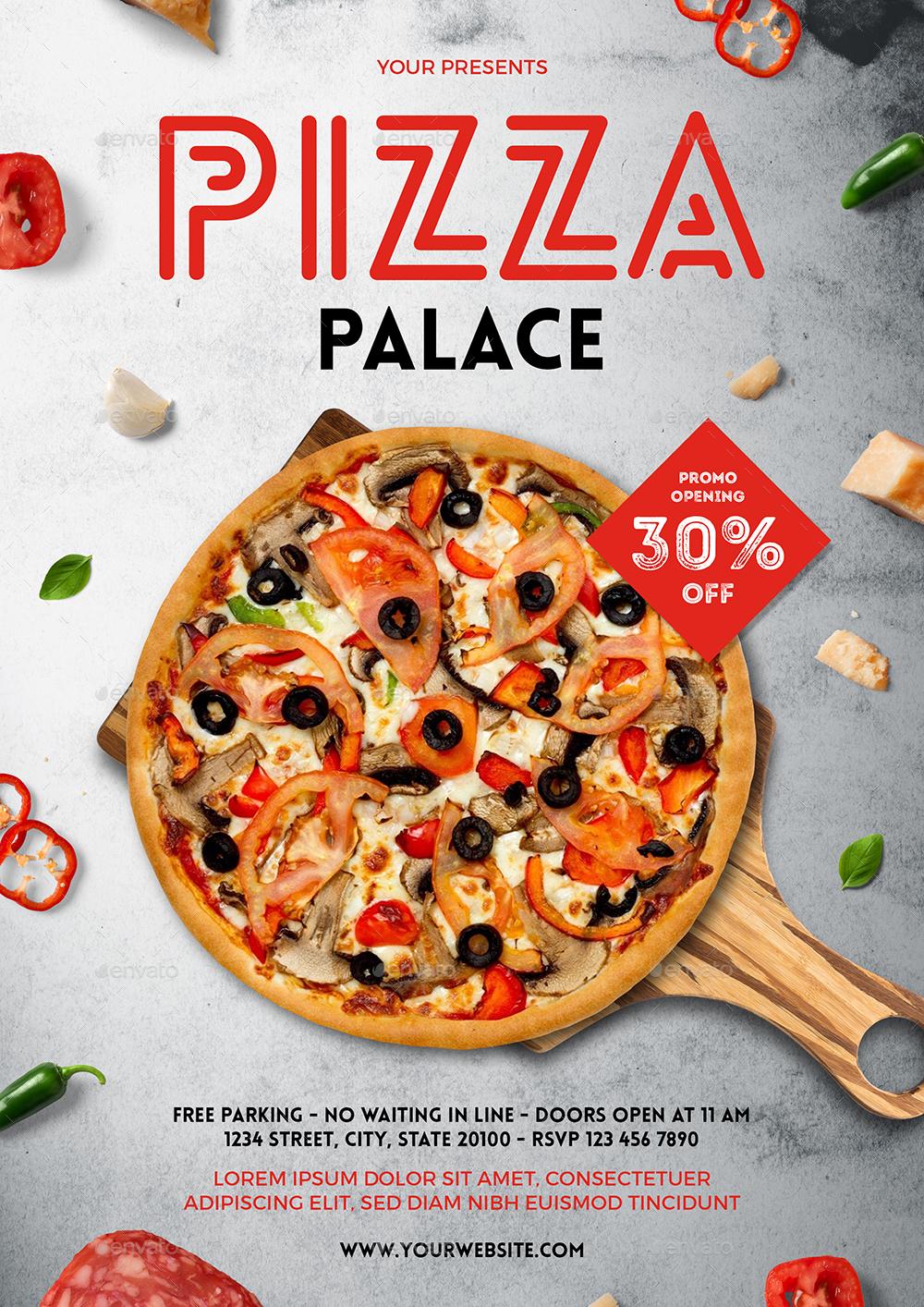 pizza flyer menu by bigmidin graphicriver