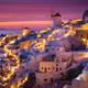 Dramatic Sunset in Mediterranean Town of Oia, Santorini, Greece, - PhotoDune Item for Sale
