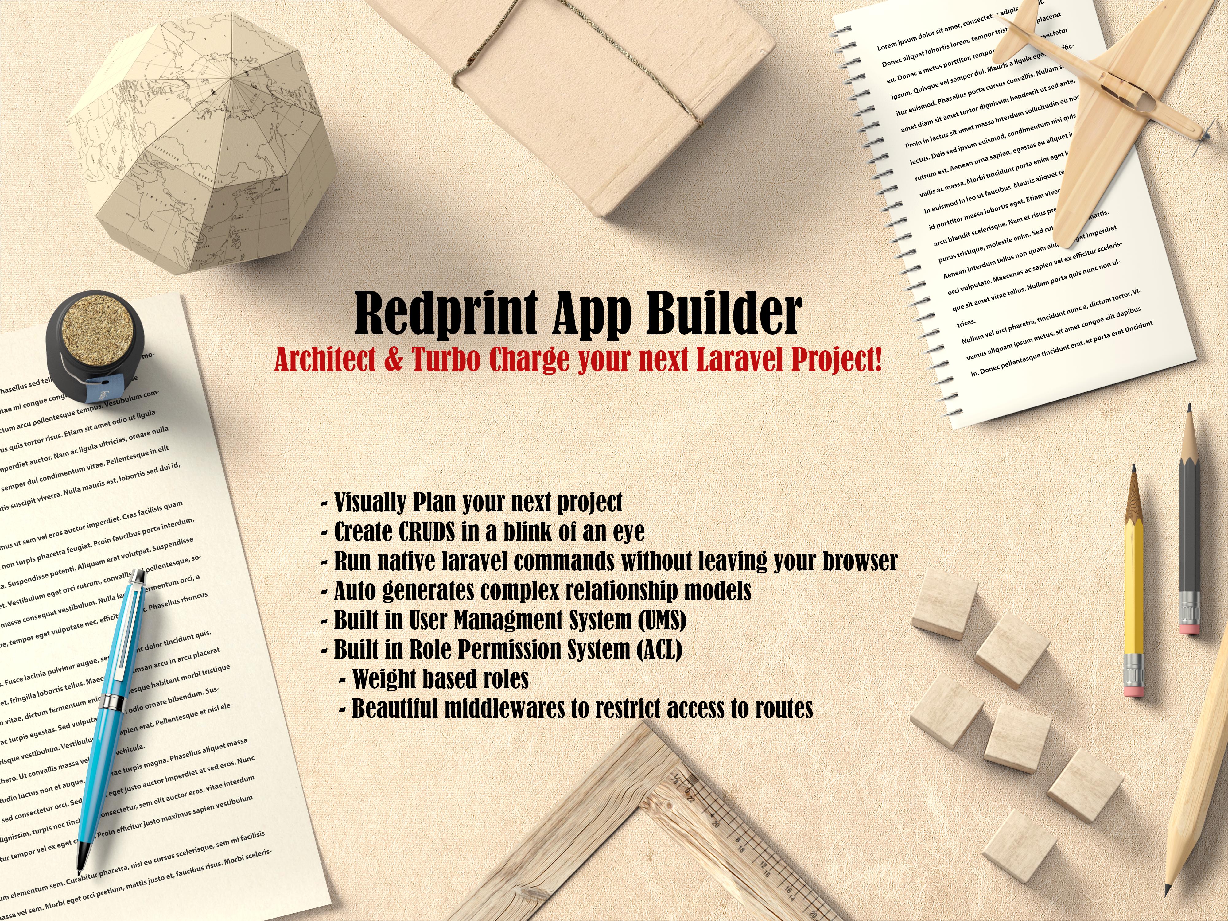 Redprint Laravel App Builder CRUD Generator Plus