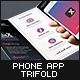 Mobile App Trifold Brochure vol.2 (Android) - GraphicRiver Item for Sale