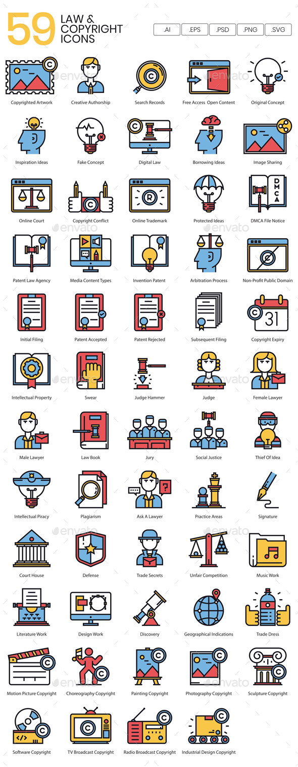 Legal & Copyright Icons - Icons