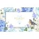 Hydrangea Bird Banner Blue - GraphicRiver Item for Sale