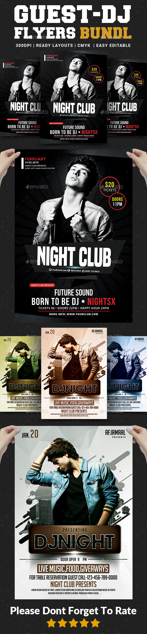 Guest DJ Party Flyer Bundle - Clubs & Parties Events