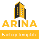 Arina - Factory & Construction HTML5 Responsive Template. - ThemeForest Item for Sale