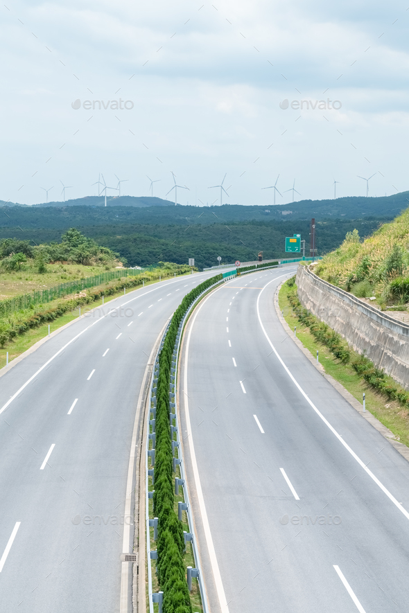 curve highway background - Stock Photo - Images