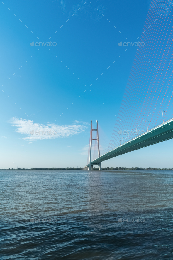 cable stayed bridge - Stock Photo - Images