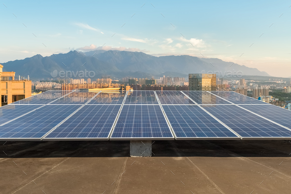 rooftop solar energy - Stock Photo - Images
