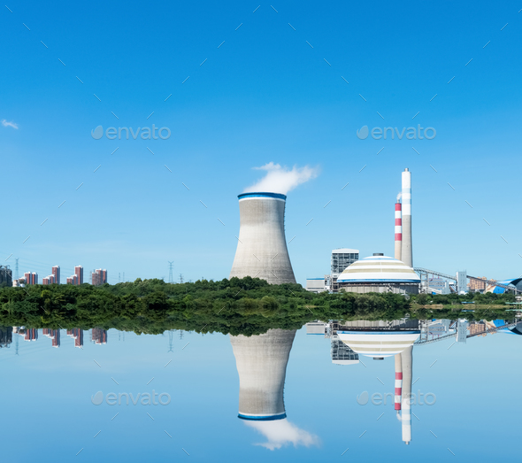 clean thermal power plant - Stock Photo - Images