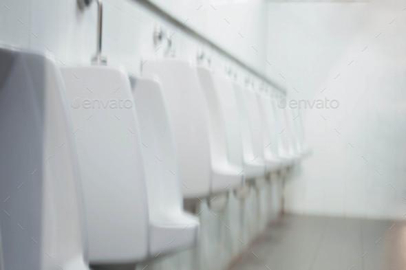 Bidet man in bathroom - Stock Photo - Images