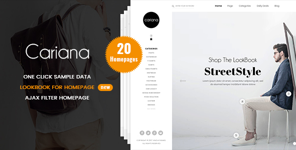 cariana - fashion lookbook prestashop 1.7 theme (prestashop) Cariana – Fashion LookBook PrestaShop 1.7 Theme (PrestaShop) 00 Preview