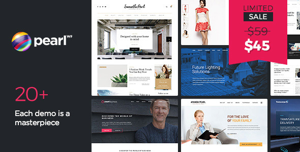 Pearl - Multipurpose & Corporate Business WordPress Theme - Business Corporate