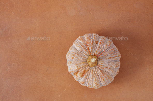 Pumpkin with top view - Stock Photo - Images
