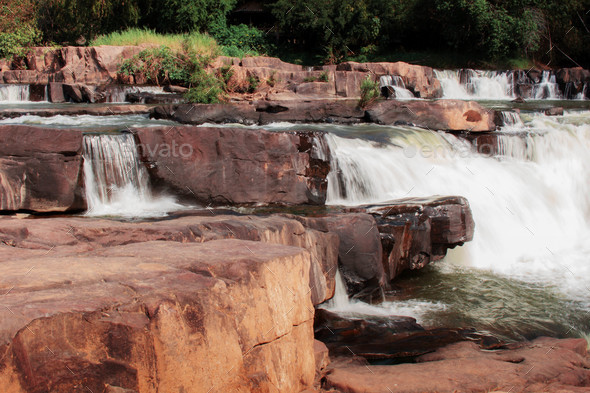 Rocks and waterfalls - Stock Photo - Images