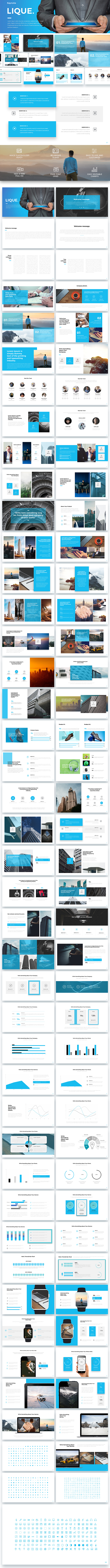 Ligue Keynote Template - Keynote Templates Presentation Templates