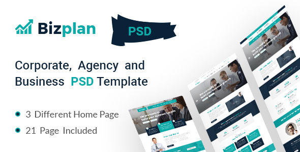 Corporate and Business Agency Template - Corporate PSD Templates