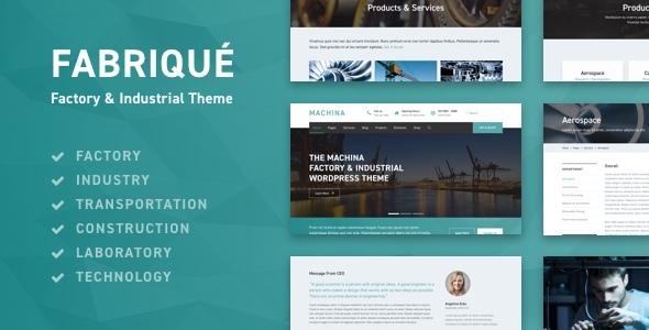 Fabriqué - Factory & Industrial Business WordPress Theme - Business Corporate