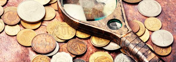 numismatics,set old coins - Stock Photo - Images