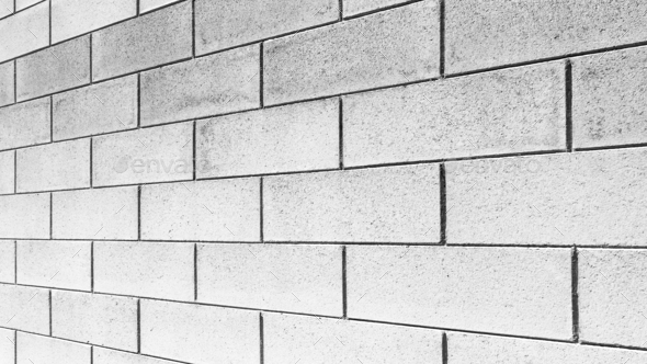 Brick wall perspective - Stock Photo - Images