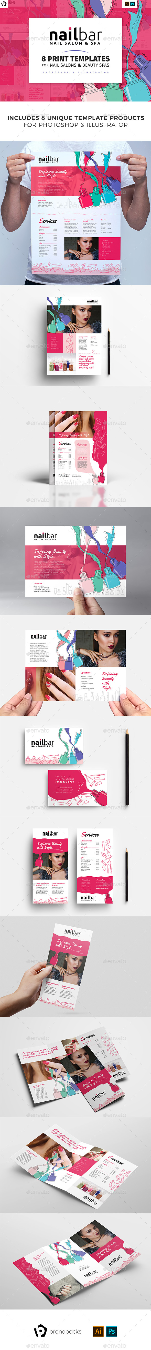 Nail Bar Templates Bundle - Commerce Flyers