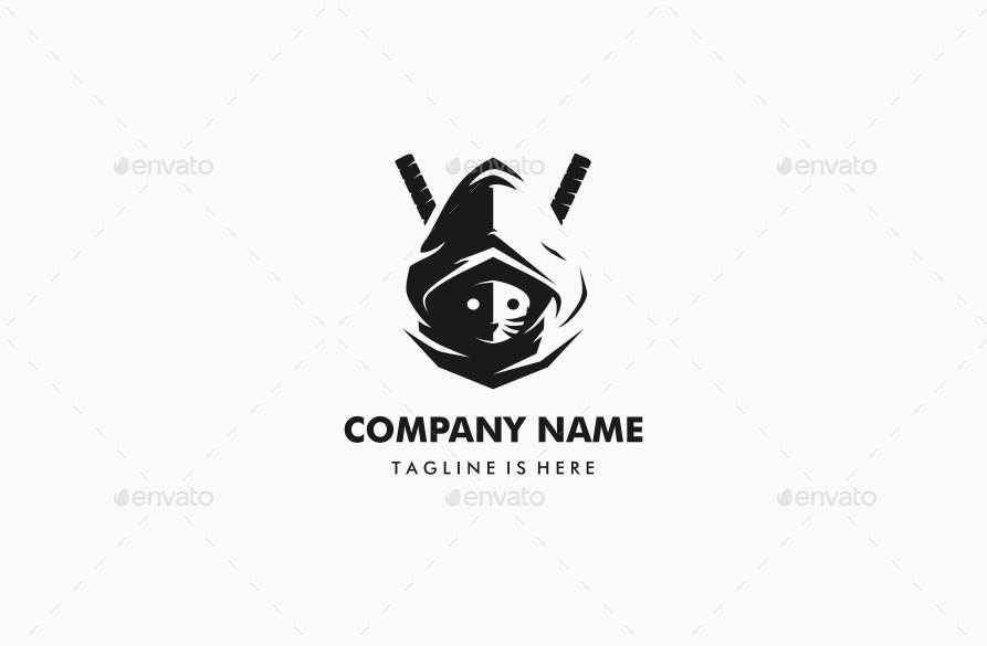 masked ninja sword samurai logo mascot by branding as hell rh graphicriver net samurai logo design samurai logo maker