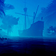 Old Ship In The Morning Fog - VideoHive Item for Sale