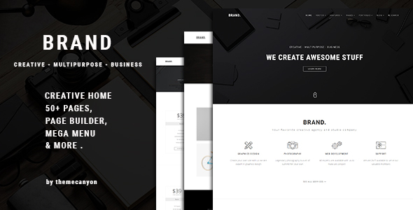 Image of Brand. - Creative Business Template