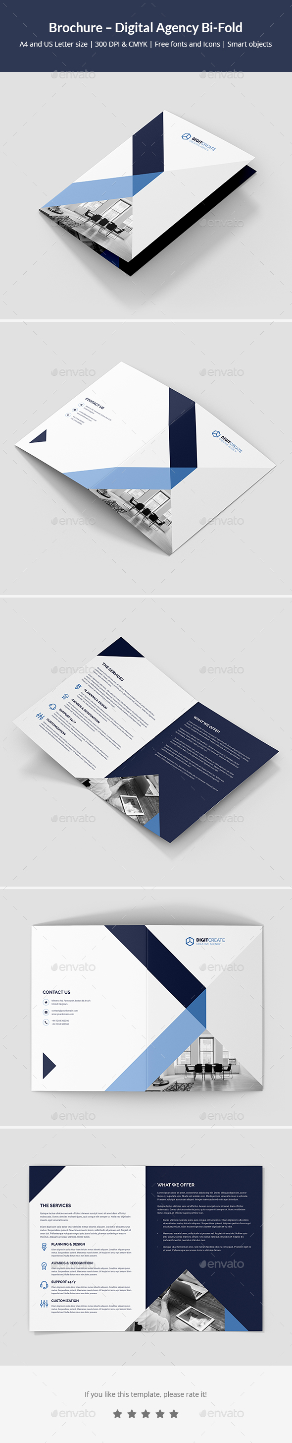 Brochure – Digital Agency Bi-Fold - Corporate Brochures