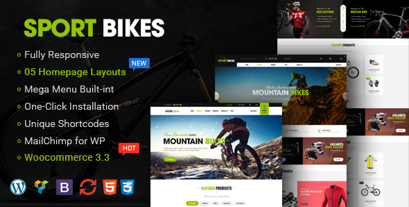 Sportbikes - Sports and Fitness Store WooCommerce WordPress Theme
