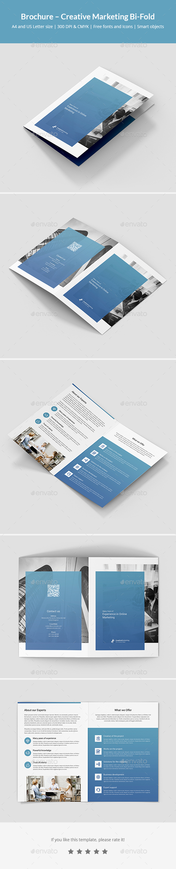 Brochure – Creative Marketing Bi-Fold - Corporate Brochures