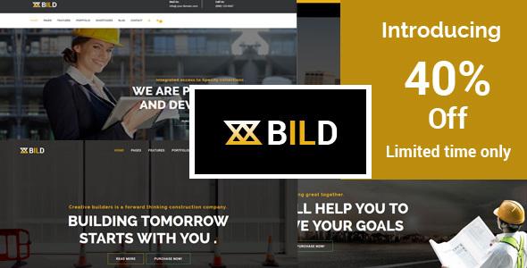 Bild | Building, Construction HTML5 Template