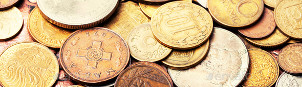 Old coins, numismatics - Stock Photo - Images