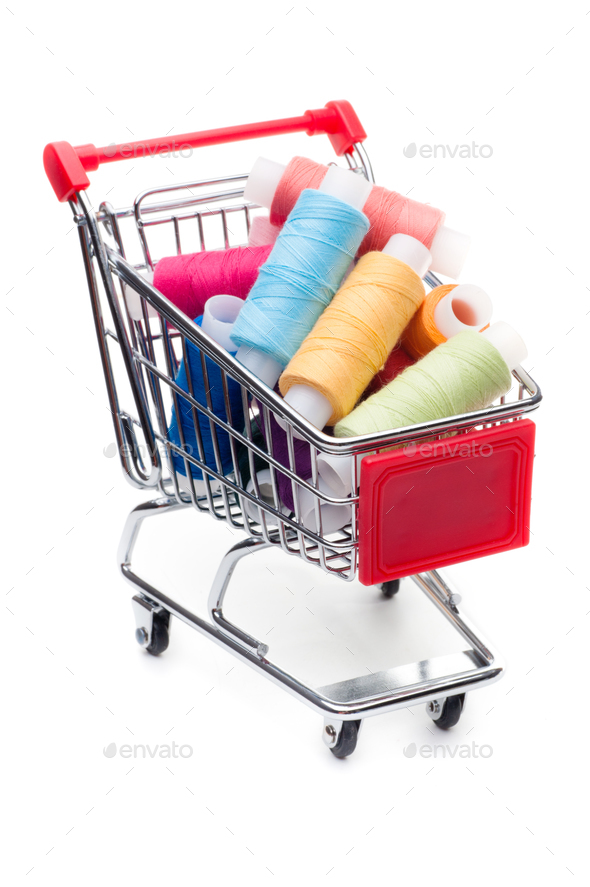 Supermarket cart - Stock Photo - Images