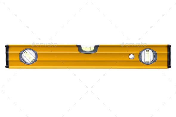 Yellow bubble level - Stock Photo - Images