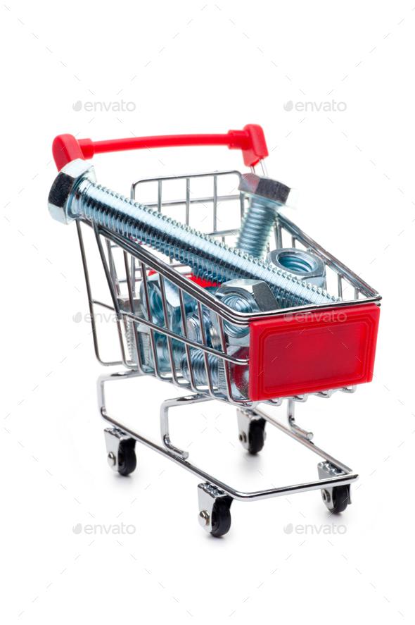 Supermarket cart - Stock Photo - Images