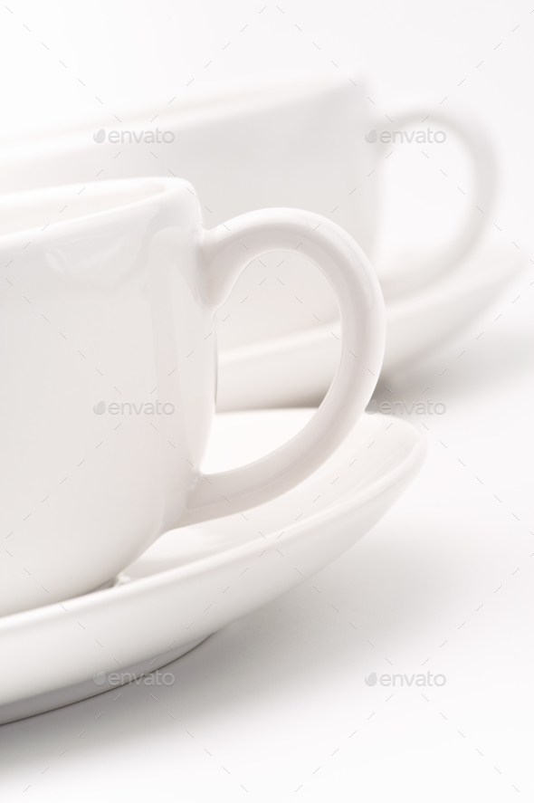 White cups - Stock Photo - Images
