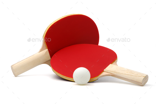 Ping-pong rackets and ball - Stock Photo - Images