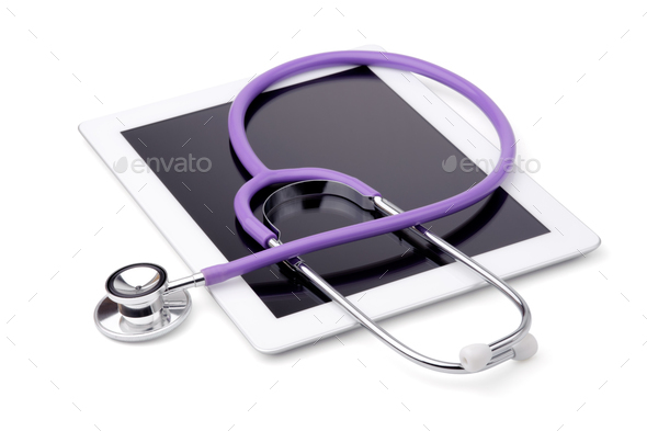 Stethoscope and tablet - Stock Photo - Images