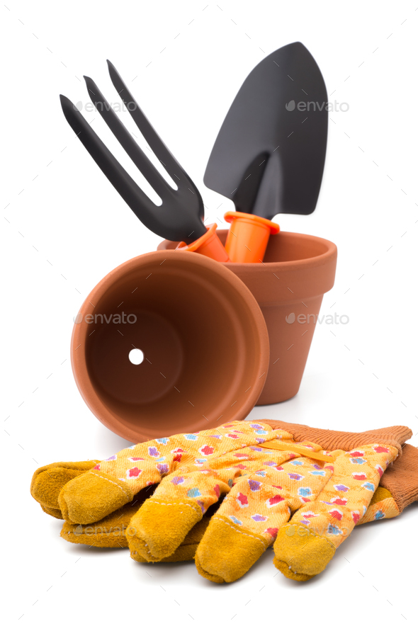 Gardening tools and accessories - Stock Photo - Images