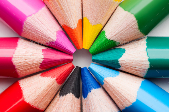 Multicolor pencils - Stock Photo - Images