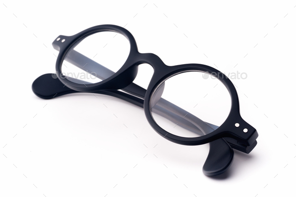 Round eyeglasses - Stock Photo - Images