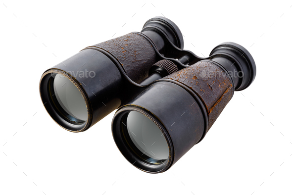 Vintage binoculars - Stock Photo - Images