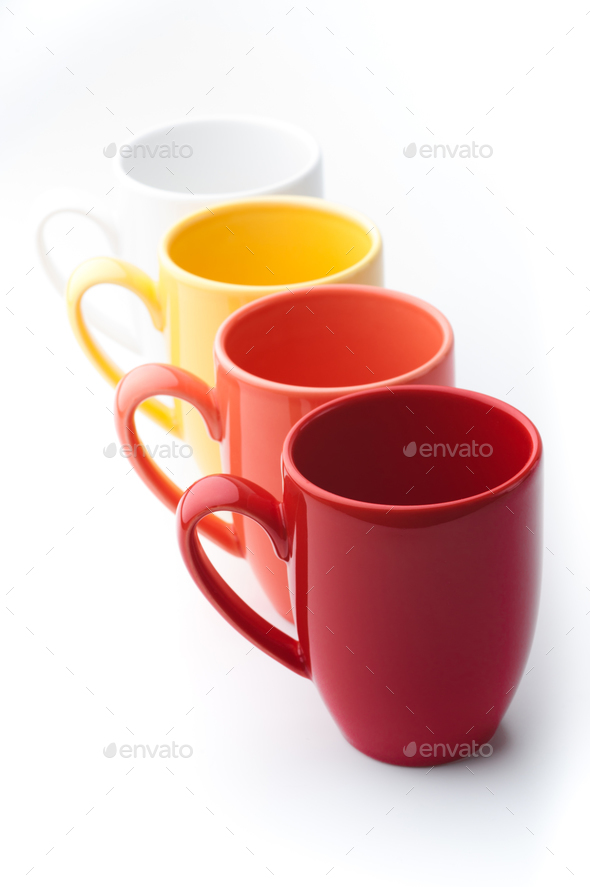 Bright mugs - Stock Photo - Images