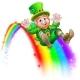 St Patricks Day Leprechaun Rainbow Slide