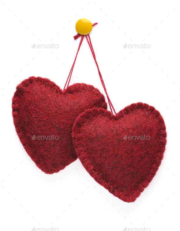 Two hearts together - Stock Photo - Images
