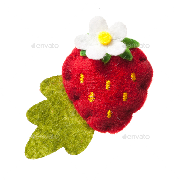 Toy strawberry - Stock Photo - Images