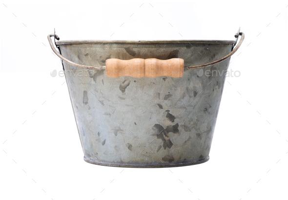 Zinc-coated bucket - Stock Photo - Images