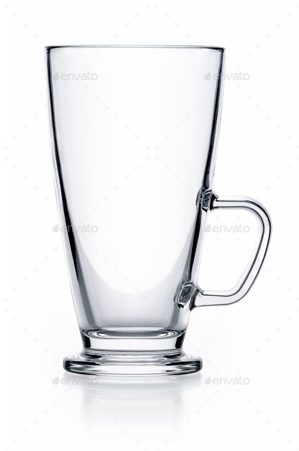 Empty glass teacup - Stock Photo - Images