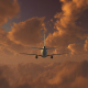 Plane Takes Off At Sunse - VideoHive Item for Sale